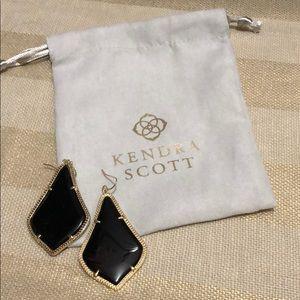 Kendra Scott Alexandra Earrings in black.